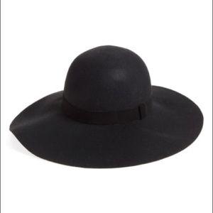 Caslon:Suede trim Floppy Wool hat